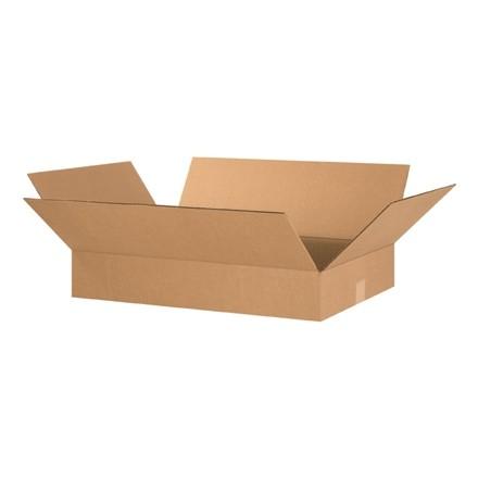 "Corrugated Boxes, 24 x 16 x 4"", Kraft, Flat"