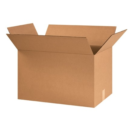 "Corrugated Boxes, 24 x 15 x 15"", Kraft"