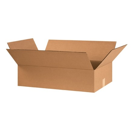 "Corrugated Boxes, 24 x 14 x 6"", Kraft, Flat"