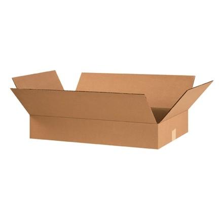 "Corrugated Boxes, 24 x 14 x 4"", Kraft, Flat"