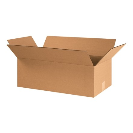 "Corrugated Boxes, 24 x 12 x 8"", Kraft"
