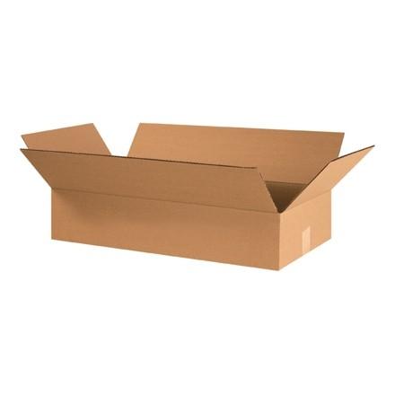 "Corrugated Boxes, 24 x 12 x 4"", Kraft, Flat"