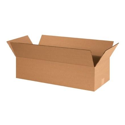 "Corrugated Boxes, 24 x 10 x 6"", Kraft, Flat"