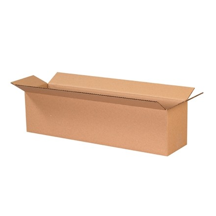 "Corrugated Boxes, 24 x 6 x 6"", Kraft"