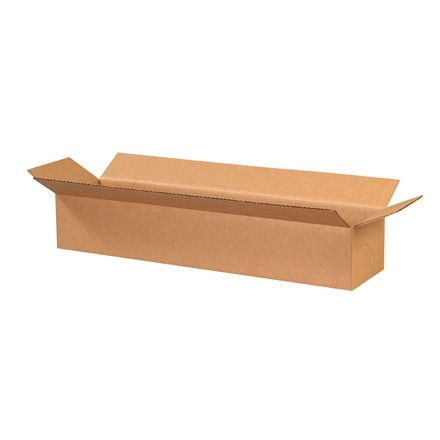 "Corrugated Boxes, 24 x 6 x 4"", Kraft"