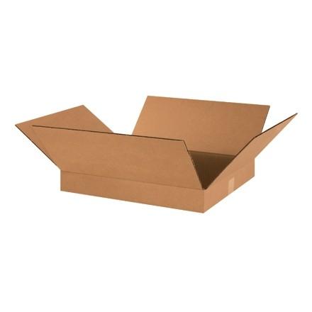 "Corrugated Boxes, 18 x 16 x 2"", Kraft, Flat"