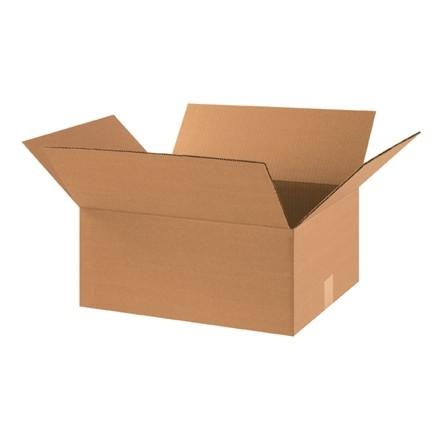 "Corrugated Boxes, 18 x 14 x 8"", Kraft"