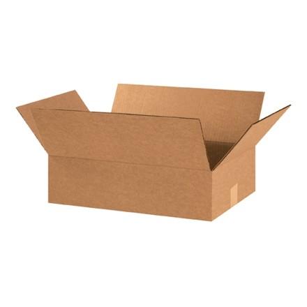 "Corrugated Boxes, 18 x 13 x 5"", Kraft, Flat"