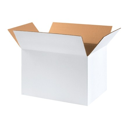 "Corrugated Boxes, 18 x 12 x 12"", White"