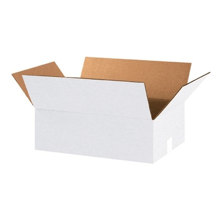 "Corrugated Boxes, 18 x 12 x 6"", White"