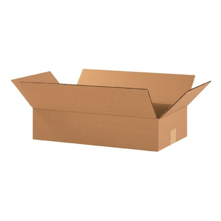 "Corrugated Boxes, 18 x 10 x 4"", Kraft, Flat"