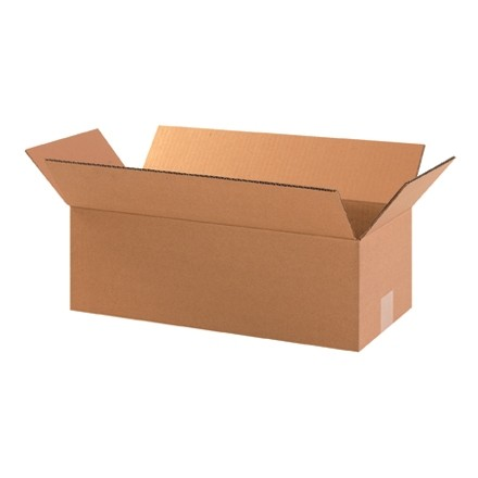 "Corrugated Boxes, 18 x 8 x 4"", Kraft"