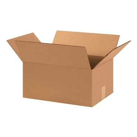 "Corrugated Boxes, 15 x 11 x 7"", Kraft"
