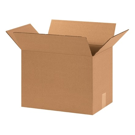 "Corrugated Boxes, 15 x 10 x 14"", Kraft"