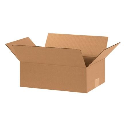"Corrugated Boxes, 15 x 10 x 5"", Kraft, Flat"
