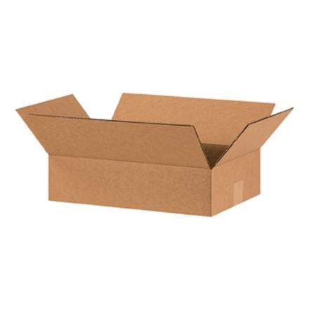 "Corrugated Boxes, 15 x 10 x 4"", Kraft, Flat"