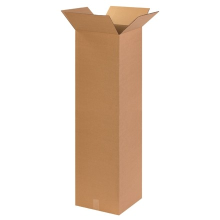 "Corrugated Boxes, 14 x 14 x 48"", Kraft"