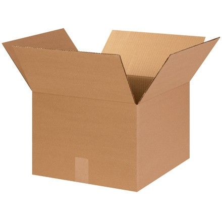"Corrugated Boxes, 14 x 14 x 10"", Kraft"