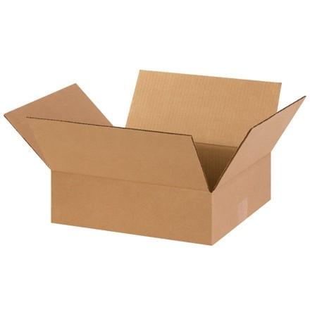 "Corrugated Boxes, 14 x 12 x 4"", Kraft, Flat"