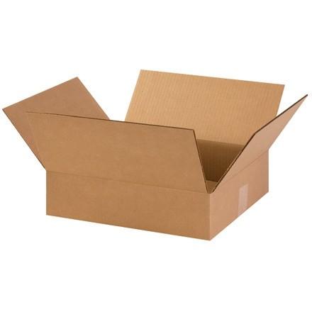 "Corrugated Boxes, 14 x 12 x 3"", Kraft, Flat"