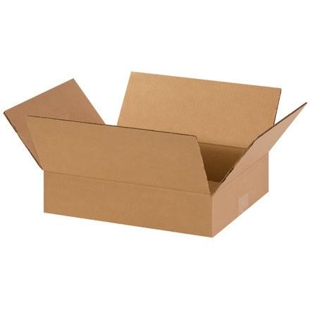 "Corrugated Boxes, 14 x 11 x 3"", Kraft, Flat"