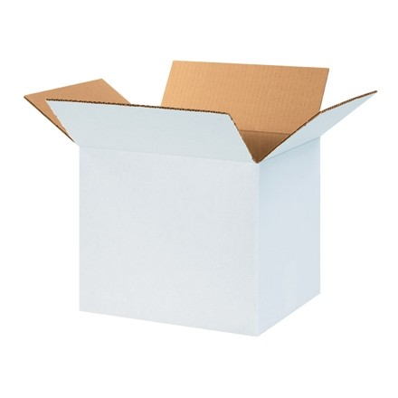 "Corrugated Boxes, 14 x 10 x 10"", White"