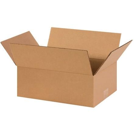 "Corrugated Boxes, 14 x 10 x 5"", Kraft, Flat"