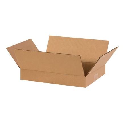 "Corrugated Boxes, 14 x 10 x 2"", Kraft, Flat"
