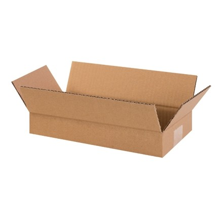 "Corrugated Boxes, 14 x 6 x 2"", Kraft, Flat"