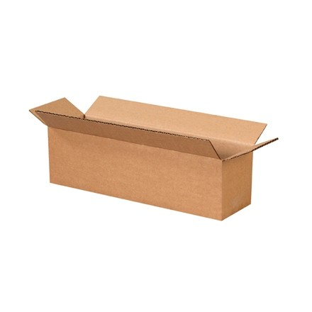 "Corrugated Boxes, 14 x 4 x 4"", Kraft"