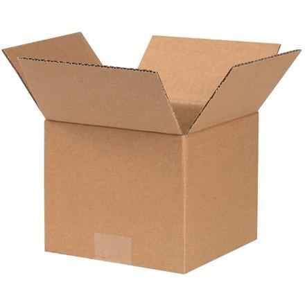 "Corrugated Boxes, 7 x 7 x 6"", Kraft"
