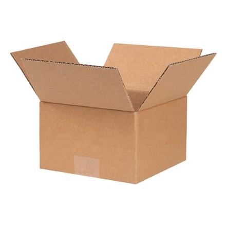 "Corrugated Boxes, 7 x 7 x 4"", Kraft"