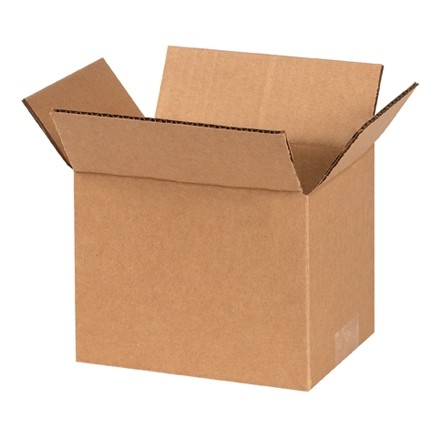 "Corrugated Boxes, 7 x 6 x 6"", Kraft"