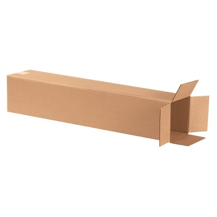"Corrugated Boxes, 6 x 6 x 30"", Kraft"