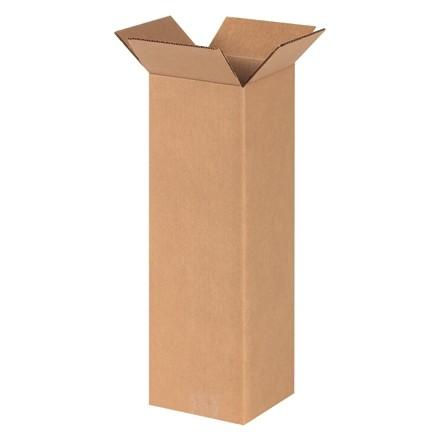 "Corrugated Boxes, 6 x 6 x 20"", Kraft"