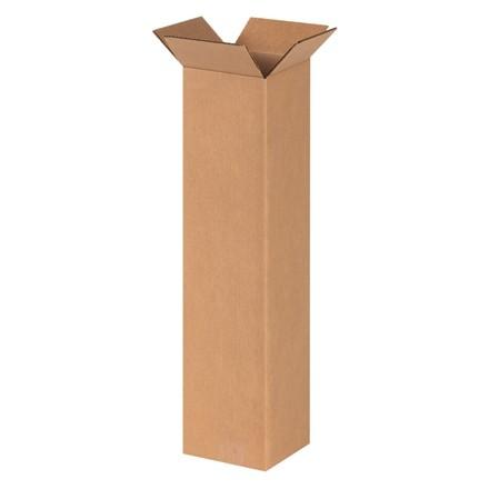 "Corrugated Boxes, 6 x 6 x 24"", Kraft"
