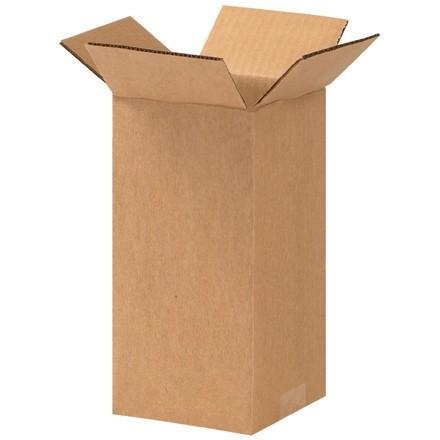 "Corrugated Boxes, 5 x 5 x 10"", Kraft"