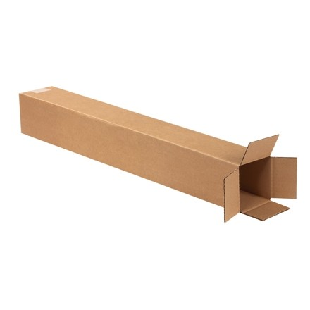 "Corrugated Boxes, 4 x 4 x 28"", Kraft"