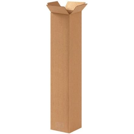 "Corrugated Boxes, 4 x 4 x 20"", Kraft"