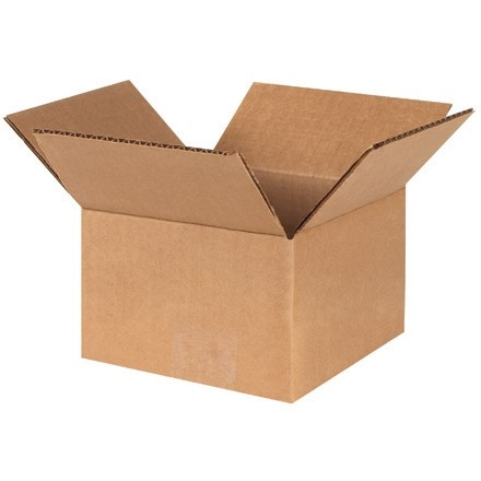 "Corrugated Boxes, 4 x 4 x 3"", Kraft"