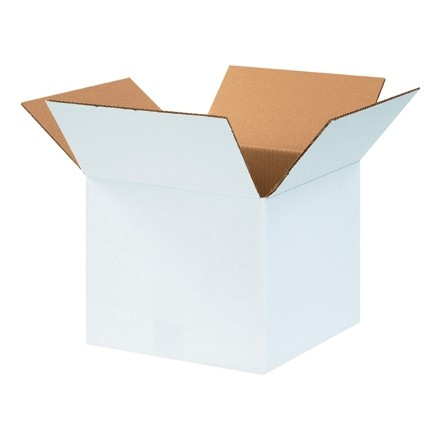 "Corrugated Boxes, 12 x 12 x 10"", White"