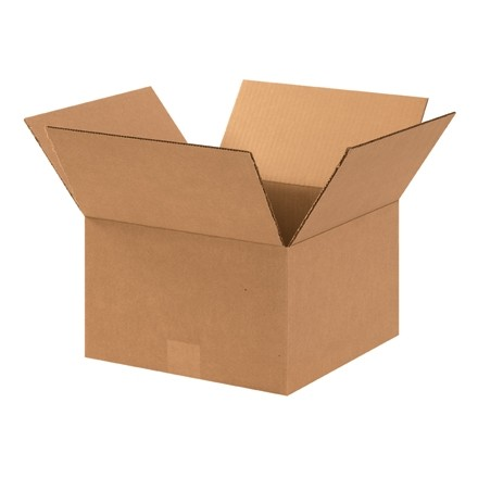 "Corrugated Boxes, 12 x 12 x 7"", Kraft"