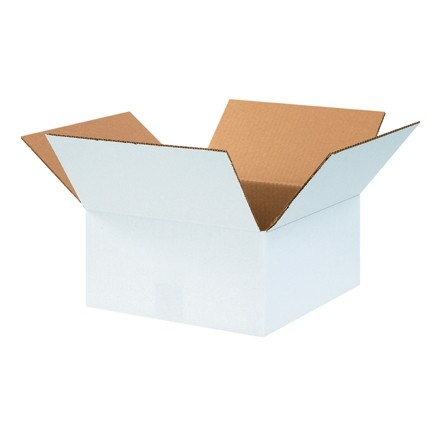 "Corrugated Boxes, 12 x 12 x 6"", White"