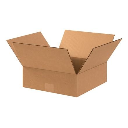 "Corrugated Boxes, 12 x 12 x 4"", Kraft, Flat"