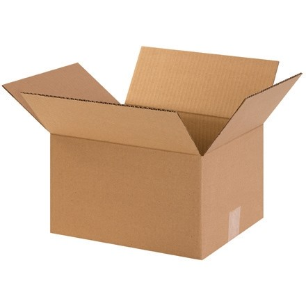 "Corrugated Boxes, 12 x 10 x 7"", Kraft"