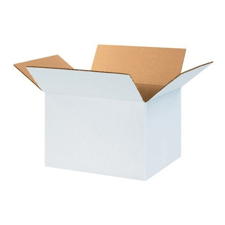 "Corrugated Boxes, 12 x 10 x 8"", White"