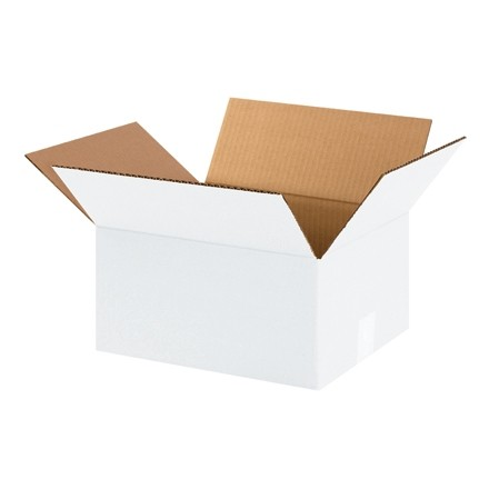 "Corrugated Boxes, 12 x 10 x 6"", White"