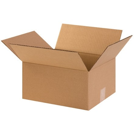 "Corrugated Boxes, 12 x 10 x 6"", Kraft"