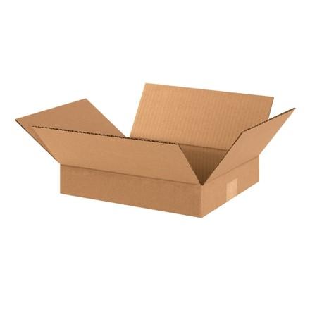 "Corrugated Boxes, 12 x 10 x 2"", Kraft, Flat"