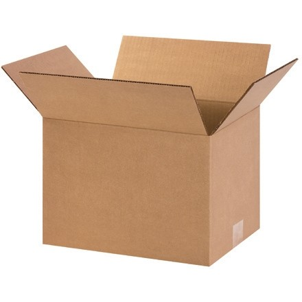 "Corrugated Boxes, 12 x 9 x 8"", Kraft"